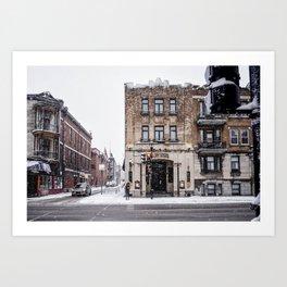 Montreal - Brasserie St denis Art Print