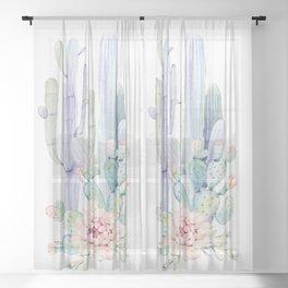 Mixed Cacti 2 #society6 #buyart Sheer Curtain