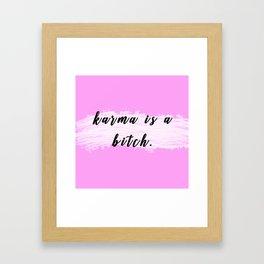 Karma,Pink Framed Art Print