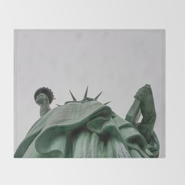 A Lady in green - NYC Throw Blanket
