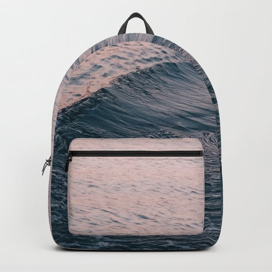 Pink Sunset Waves Backpack