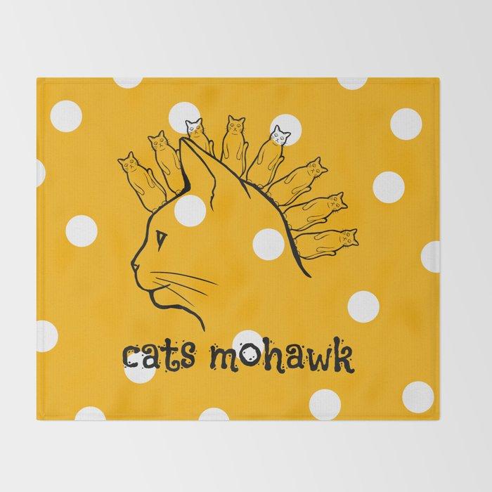 Cats Mohawk Throw Blanket