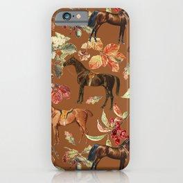 AUTUMN HORSES & Sugar Almond background  iPhone Case