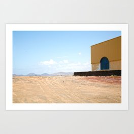 Building on Lanzarote Art Print