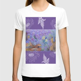 Music of flowers - Ultraviolet composition T-shirt
