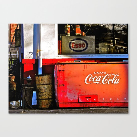 Outside the Station Canvas Print