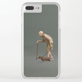 Old man's best friend, with quote Clear iPhone Case