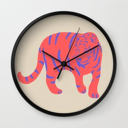 Uzual Tiger, Tiger print, animal print, nursery art Wall Clock