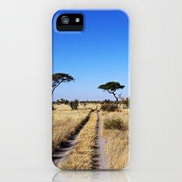 Path through Africa - Central Kalahari, Botswana iPhone Case