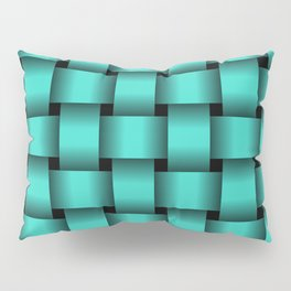 Large Turquoise Weave Pillow Sham