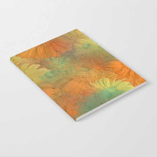 Floral Orange-Yellow-Green Notebook