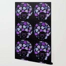 Afro Diva Purple Wallpaper
