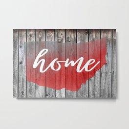 Ohio Map Home Barn Wall Painting Metal Print