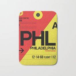 PHL Philadelphia Luggage Tag 2 Bath Mat