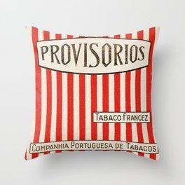 Provisorios - Vintage Cigarette Throw Pillow
