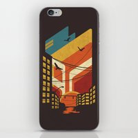 street art iPhone & iPod Skins featuring Street by The Child