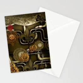 Wonderful noble steampunk design Stationery Cards