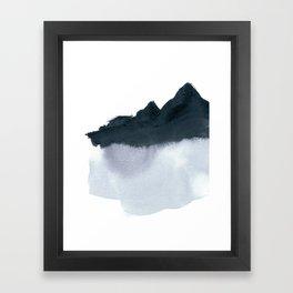 mountain scape minimal Framed Art Print