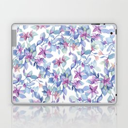 Colorful Watercolor Leaf Pattern Laptop & iPad Skin