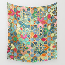 Gilt & Glory - Colorful Moroccan Mosaic Wall Tapestry