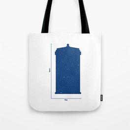 Tardis, Space and Time Tote Bag