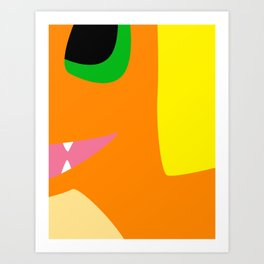 Close Up Art - Char Art Print