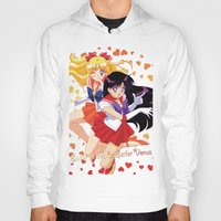 sailor venus Hoodies featuring Sailor Mars and Sailor Venus by Neo Crystal Tokyo