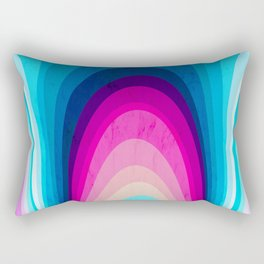 Woodwork Rainbow Tree Rectangular Pillow