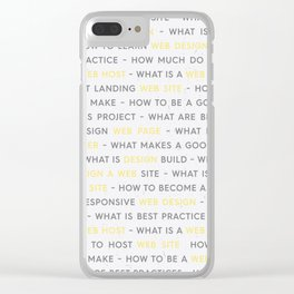 Yellow Web Design Keywords Poster Clear iPhone Case