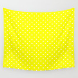 Dots (White/Yellow) Wall Tapestry