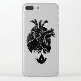 Heart of Wanderer Clear iPhone Case
