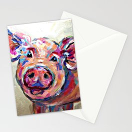 Happy Pig Art Stationery Cards