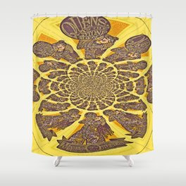 Stone Age Queens Go With The Flow Shower Curtain