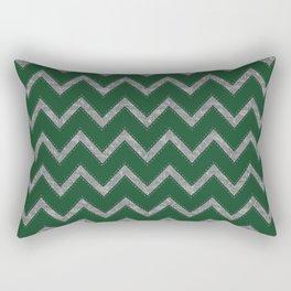 Potterverse Chevrons - Slytherin Green Rectangular Pillow
