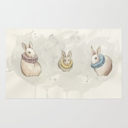 Rabbits in Ruffs Rug