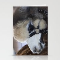 alpaca Stationery Cards featuring Alpaca by Deborah Janke