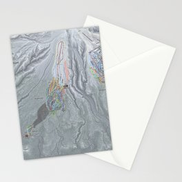 Mt Hood Resorts Trail Map Stationery Cards