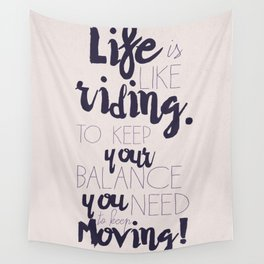 A. Einstein quote on life for motivation inspiration and strenght, typography, illustration, decor Wall Tapestry