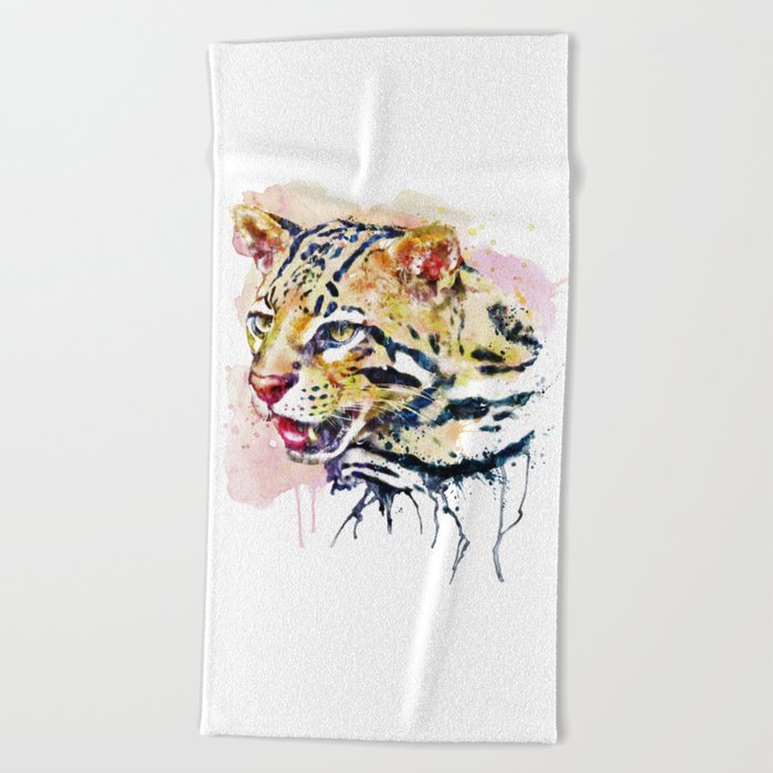 Ocelot Head Beach Towel
