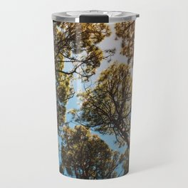 Trees and sky in sunlight- forest landscape - nature photography Travel Mug