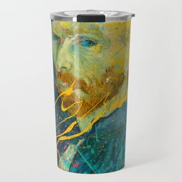 Van Gogh Street Art Dripping Remix Travel Mug