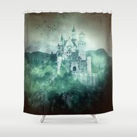 fairytale Shower Curtains featuring The dark fairytale by UtArt