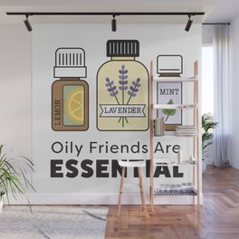 Oily Friends Are Essential Icons Wall Mural