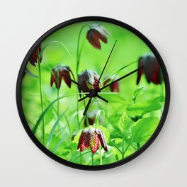 Chequered lily Fritillaria Meleagris Wall Clock