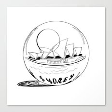 Sydney in a glass globe Canvas Print