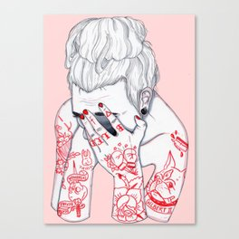 Troubled  Canvas Print