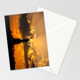 Statue of Liberty sunset in New York Harbor Stationery Cards