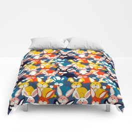 Rabbit colored pattern no2 Comforters