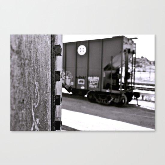 Urban train car Canvas Print