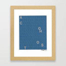 Ghost Cats Ghost Letters Framed Art Print
